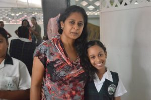 Divya Nandlall of Mae's Under-12 with her mom
